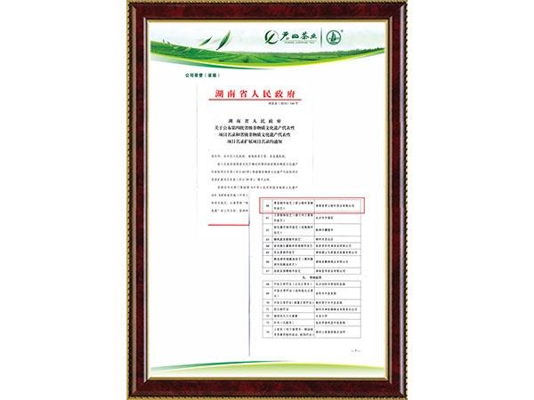 2016年湖南省人民政府公布第四批省级非物质文化遗产代表性项目